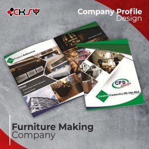 Furniture Maker Company Profile Design