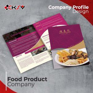 Food Product Company Profile Design