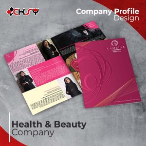 Health and beauty System Company Profile Design