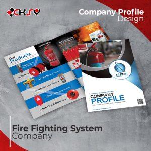 Fire Fighting Company Profile Design